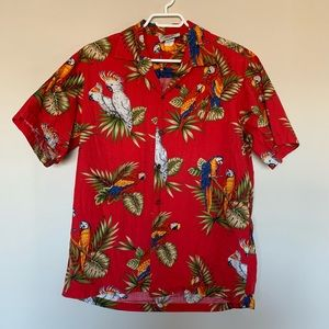 Vintage Hawaiian Shirt Pacific Legend Parrot Macaw